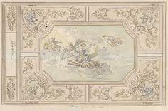 Elias van Nijmegen | Ontwerp voor een plafondschildering met Eer (?) gekroond door de Tijd, Elias van Nijmegen, 1677 - 1755 |