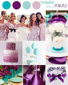 "Turquoise and Purple Wedding Color Ideas and Invitations// Use coupon code ""CVB"" to get 10% off towards all the invitations. #elegantweddinginvites"