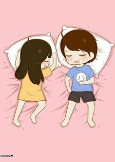 This is how i sleep almost all the time xp :p cute couple cartoon, Cute Chibi Couple, Love Cartoon Couple, Cute Couple Art, Anime Love Couple, Cute Anime Couples, Bebe Anime, Cute Couple Wallpaper, Trendy Wallpaper, Cute Love Pictures