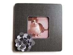 Wooden Picture Frame Dark Grey with Grey by SimpleHomeAccents, $14.00