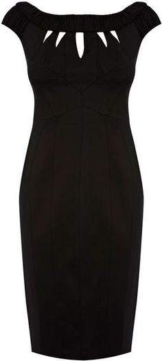 You can never have too many little black dresses... KAREN MILLEN ENGLAND Carved Jersey and Struct