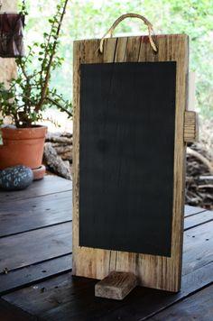 {chalkboard} reclaimed wood chalkboard for table menu