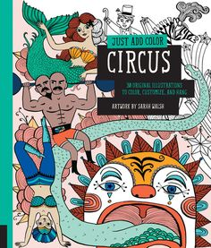 If you are in desperate need of a brain break, these grown up coloring pages are perfect! Let your imagination run wild with these whimsical circus designs fromJust Add Color: Circus.