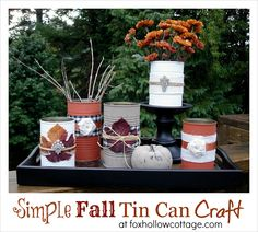 Table Centerpiece Vignette {Fall/Thanksgiving}