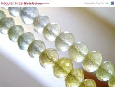 15 Off Sale Prehnite Rondelle Gemstone AAA by somsstudiosupplies, $29.75