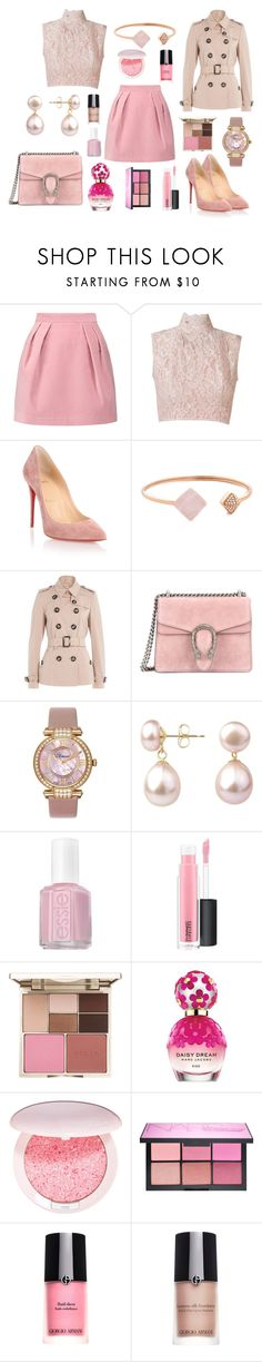 """Pretty in Pink"" by frida-510 ❤ liked on Polyvore featuring MSGM, Martha Medeiros, Christian Louboutin, Michael Kors, Burberry, Gucci, Chopard, A B Davis, Essie and MAC Cosmetics"