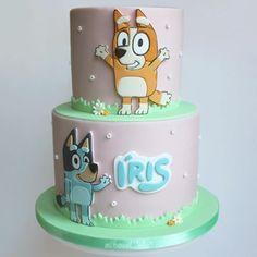 Images about #blueycake on Instagram 4th Birthday Cakes, Frozen Birthday Party, 4th Birthday Parties, Birthday Bash, Birthday Ideas, Bingo Cake, Baby Girl First Birthday, Girl Cakes, Party Cakes
