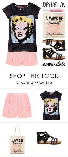 """""""Summer Date: The Drive-In"""" by lgb321 ❤ liked on Polyvore featuring STELLA McCARTNEY, Pepe Jeans London, Tri-coastal Design and Victoria's Secret PINK"""