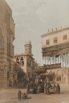 David Roberts - Egypt and Nubia, Volume III; Bazaar of the Coppersmiths, Cairo, 1848