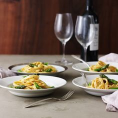 Fettucini Alfredo with Asparagus