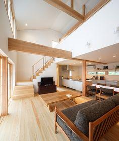 Niigata, Office Under Stairs, Japan House Design, Casa Loft, Kitchen Dining Living, Modern Home Interior Design, Loft Interiors, Japanese House, Japanese Interior