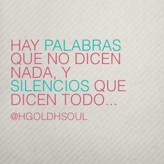 Interpreta mi silencio...