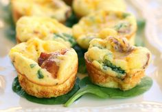Baby Egg and Bacon Frittatas with Gouda Cheese  #ChefJimmyBoswell