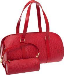 Louis Vuitton Rep Epi Leather Soufflot Bag and Pochette.