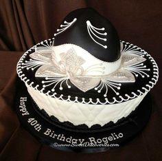 Classy sombrero birthday cake! #sombrero #cake