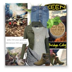 """""""So Fresh and So Keen: Contest Entry"""" by eula-eldridge-tolliver ❤ liked on Polyvore featuring M.i.h Jeans, American Vintage and Keen Footwear"""