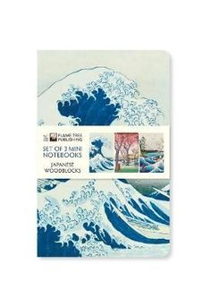 The Japanese Woodblocks Mini Notebook Collection features a set of three mini, foiled and ruled notebooks, each with a different beautiful design - The Great Wave, Plum Garden and Sea at Satta. With a sturdy cover and rounded corners, they are perfect to Plum Garden, Coffee Table Books, Outlander, Notebook, Japanese, Mini, Cover, Collection, Japanese Language