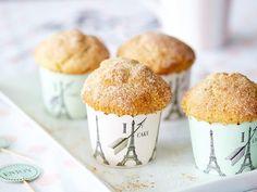 Saftige Apfelmus-Muffins mit Zimtzucker