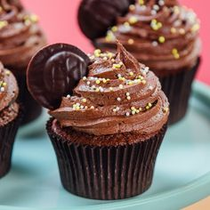 Cupcake Videos, Cupcake Recipes, Cupcake Photos, Cupcakes, Cupcake Cakes, Jaffa Cake, Ganache, Salty Cake, Fancy Desserts