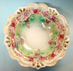 Royal Bayreuth Roses Large Bowl Early offered by Ruby Lane Shop, AntiquesOverTexas.  #Royal #Bayreuth