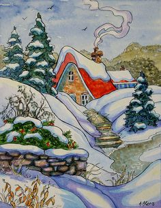 Tucked Away in Cozy Storybook Cottage Series | by cottagelover1953