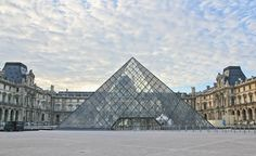 The Louvre taken from the courtyard