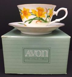 Avon Blossoms of the Month Cup/Saucer Set 1991 Mint Condition March Jonquil | Collectibles, Decorative Collectibles, Decorative Collectible Brands | eBay!