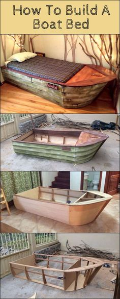 How To Build A Boat Bed http://theownerbuildernetwork.co/c09j Here's a bed that combines both creativity and function. And it's guaranteed to be a hit with the young pirates in your family!: