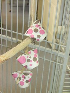 Foraging toy.. my birds would love this.. not really refillable.. they would shred it like crazy.. but make and fill a ton of them at once and give them a string every few days.. | Popular Pin