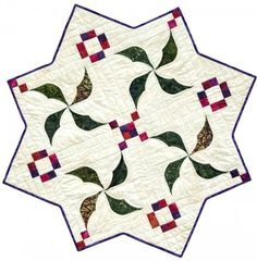 Holly Berries #southwindquilts #dimensionalcurves #quiltpattern