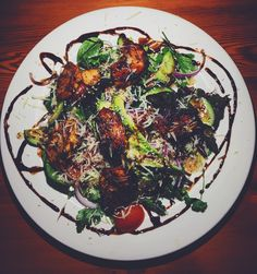 Salad of the day #chicken #avocado #healthy  #healthyfood #asaladadaykeepsthedoctoraway