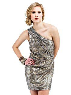 One-shoulder Neckline Print Short Length Cocktail Dress