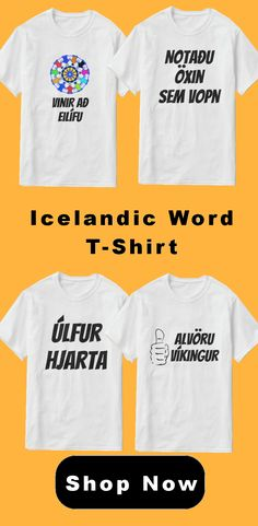 Icelandic Language word sentence t-shirt. Cool t-shirt, unique t-shirt, trendy t-shirt for yourself or as a gift. Icelandic Language, Word Sentences, Cool T Shirts, Words, Unique, Gift, Cool Tees, Gifts, Horse