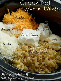 Crock Pot Mac And Cheese Recipe With Evaporated Milk.South Your Mouth: Southern Style Crock Pot Macaroni Cheese. Served Up With Love: Extra Cheesy Crock Pot Macaroni And . Crock Pot Mac 'n Cheese My Days Can Count. Crockpot Mac N Cheese Recipe, Macaroni Cheese Recipes, Crockpot Dishes, Crock Pot Cooking, Crockpot Recipes Pasta, Mac N Cheese Casserole, Elbow Macaroni Recipes, Cooking Macaroni, Slow Cooking
