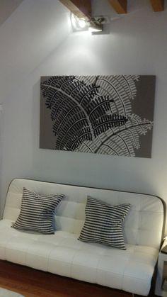 Cuadro con tela de Ikea