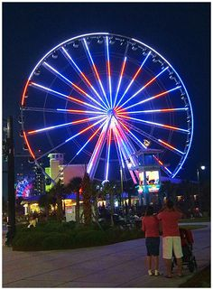 #Skywheel at night in Myrtle Beach  #Travel South Carolina USA multicityworldtravel.com We cover the world over 220 countries, 26 languages and 120 currencies Hotel and Flight deals.guarantee the best price