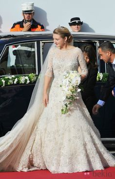 Princess Stephanie of Luxembourg, Countess de Lannoy + Hereditary Grand Duke Guillaume of Luxembourg, dress by Elie Saab :: October 20, 2012 in Luxembourg