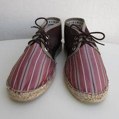Sneaker dupión terracotta rayas T42 - María Jurado