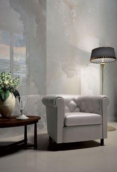 Porcelain stoneware wall tile: marble look - PRECIOUS STONES : WHITE ONIX - Fiandre
