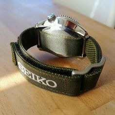 Sport Watches, Cool Watches, Watches For Men, Seiko Automatic Watches, Camera Watch, Watch Straps, Velcro Straps, Tactical Gear, Paracord