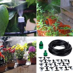 Micro Drip Irrigation System Plant Self Watering Garden Hose Nozzle Kit Water Flowers, Water Plants, Garden Plants, Auto Watering System, Garden Hose Holder, Drip Irrigation System, Self Watering, Water Systems, Outdoor Projects