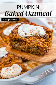 Baked Pumpkin, Pumpkin Recipes, Pumpkin Oatmeal, Fall Recipes, Pumpkin Spice, Baked Oatmeal Recipes, Vegan Breakfast Recipes, Healthy Dessert Recipes, Brunch Recipes