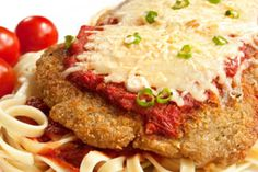 Hungry Girl's Pan-Fried Chicken Parm. Featured on Dr Oz. I watched this episode of hungry girl and I got sooo excited! I love to eat and now I can eat more:)