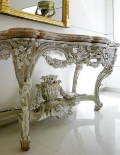lacloserie:  Louis XV painted console