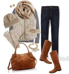 """""""Neutrals and navy"""" by jencirino on Polyvore"""