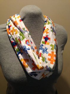 Autism Infinity scarf by KruseKreations22 on Etsy