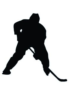 Ice Hockey Silhouette - 27