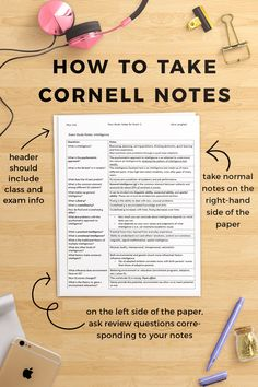 A quick guide to Cornell Notes! Pin to save for later, and click through to read on College Compass!