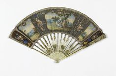 Pleated Fan And Case (France), ca. 1780