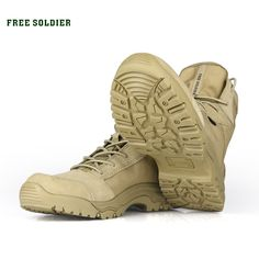 new products 097c0 0e4ea FREE SOLDIER Outdoor Sports Tactical Camping Shoes Men s Boots For Climbing  Breathable Lightweight Mountain Boots Hiking